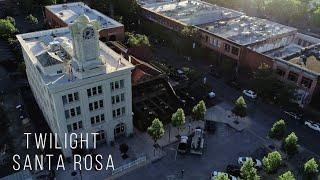 Twilight Cinematic Drone Flight, Santa Rosa, Phantom IV