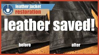 Leather Jacket Restoration - Jack Reacher Thrift Store Find!