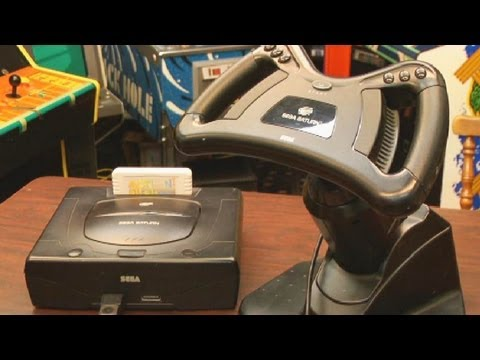 Classic Game Room - SEGA SATURN Racing Wheel review
