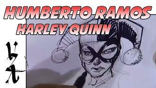 Humberto Ramos Drawing Harley Quinn