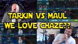 Star Wars: Galaxy Of Heroes - Tarkin VS Maul - WE HEART CHAZE???