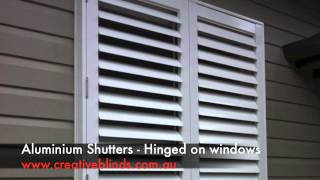 Aluminium Shutters Hinged Bangalow