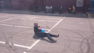 Dave Coates stunt show cmc Newport 2016
