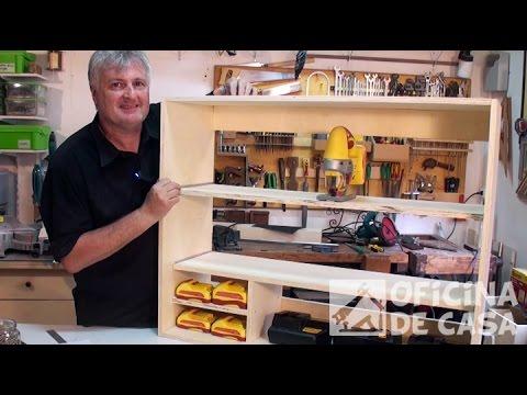 Projeto - Corte da chapa e montagem do armário #DIY • Oficina de Casa