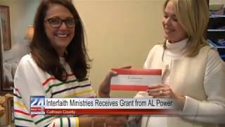 Interfaith Ministries in Calhoun County Receives Grant From Alabama Power