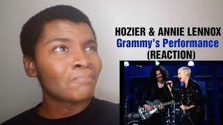 """HOZIER & ANNIE LENNOX - """"Take Me To Church/ I Put A Spell On You"""" Grammy's (REACTION)"""