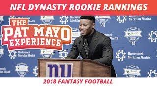 2018 Fantasy Football Rookie Dynasty Rankings and Rookies in Season Long