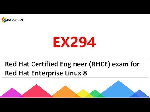 EX294 Exam Dumps - (RHCE) exam for Red Hat Enterprise Linux 8 ...