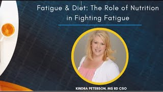 SCS Lunch & Learn: Fatigue & Diet: The Role of Nutrition in Fighting Fatigue