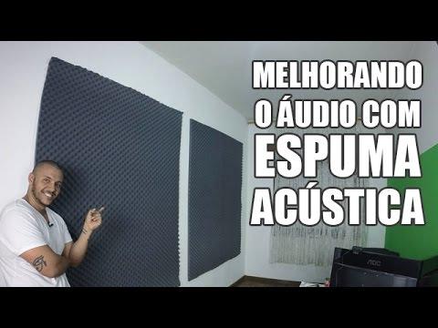 Melhorando o Áudio com Espuma Acústica