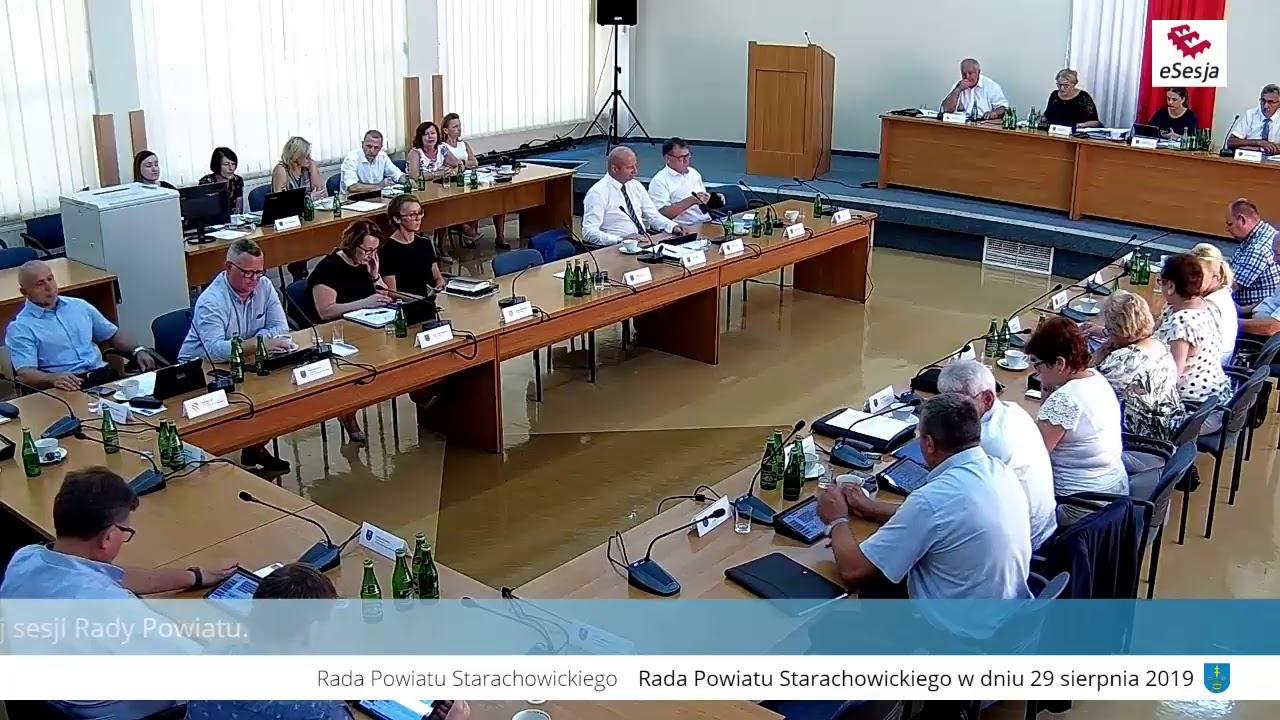 XI Sesja Rady Powiatu w Starachowicach 29.08.2019r.