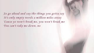 Christina Aguilera - Empty Words (with lyrics)