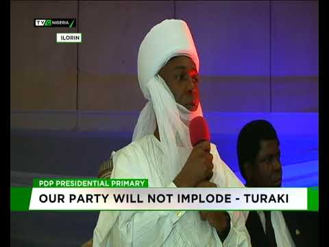 Our party will not implode - Turaki