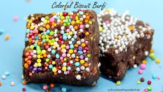 How to make Biscuit Barfi | Colorful Marie बिस्कुट की बर्फी बनाये आसानी  से  | Biscuit Barfi Recipe