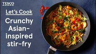Asian-inspired katsu stir fry