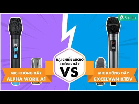 Micro Alpha Works A1 vs Excelvan K18V| Chọn mic hát karaoke nào tốt ???