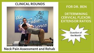 For Dr. Ben: Testing Cervical Extensor / Flexor Strength Ratios