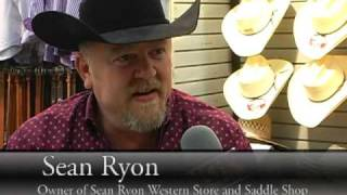 Sean Ryon shapes a cutter's hat