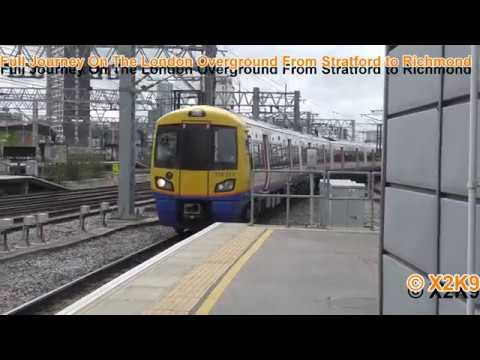 Full Journey On The London Overground From Stratford to Richmond