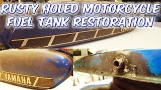 Rusty Dented Motorcycle Fuel Tank Restoration Yamaha Fs1e
