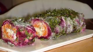 Овощной рулет. Vegetable rolls