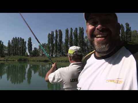 La pesca in una verga con lancio lontano