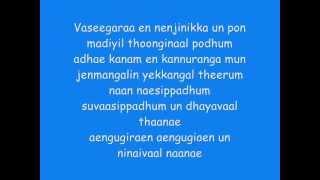 Minnale   Vaseegara Lyrics