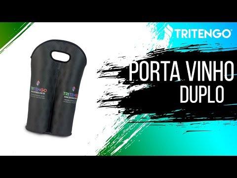 Porta Vinho Duplo em Neoprene Personalizado para Brinde Corporativo