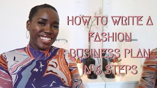 HOW TO WRITE A CLOTHING LINE BUSINESS PLAN IN 6 EASY STEPS