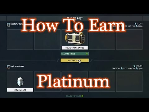 Warframe - How To Earn Platinum