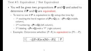 How to Setup Truth Trees in Propositional Logic
