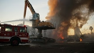 TFR Fights Scrap Metal Fire in the Port of Tampa