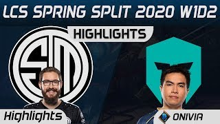TSM vs IMT Highlights LCS Spring 2020 W1D2 Team Solo Mid vs Immortals LCS Highlights 2020 by Onivia