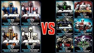 Real Steel WRB ALBINO VS WRB II ROBOTS Series Fights | Old School (Живая Сталь)