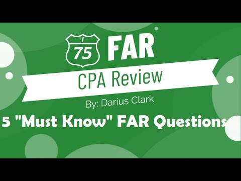 CPA FAR Exam- 5