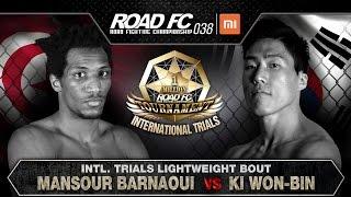 MANSOUR BARNAOUI(만수르 바르나위) VS KI WON-BIN(기원빈)