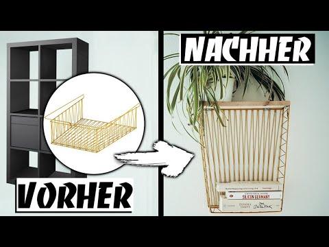 IKEA UPCYCLING - Kleines DIY REGAL aus KALLAX DRAHTKORB - IKEA HACK | EASY ALEX