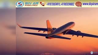 Take Modern CCU Based Air Ambulance in Indore and Siliguri by Sky