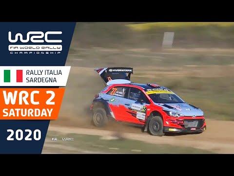WRC2 ラリー・イタリア・サルディニア 土曜日に行われたラリーのハイライト動画
