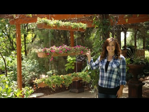DIY Hanging Rain Gutter Garden // Garden Answer