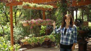 DIY Hanging Rain Gutter Garden // Garden Answer