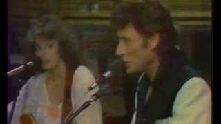 Emmylou Harris duet with Johnny Hallyday - If I Were A Carpenter.1984
