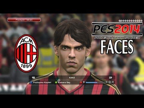 Pro Evolution Soccer 2014 (PES 2014) - AC Milan Player Faces