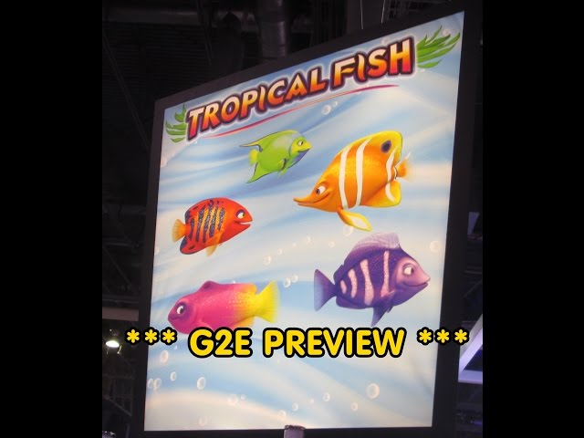 G2E PREVIEW - Tropical Fish from WMS Gaming!  Preview!