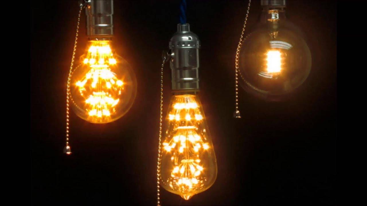 Видео лампа Эдисона