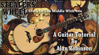 Stuck in the Middle with You - Stealers Wheel - Acoustic Lesson (ft. my son on lead etc. - 2021)