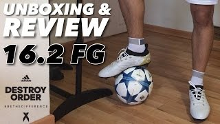 ADIDAS X 16.2 FG   UNBOXING & REVIEW  