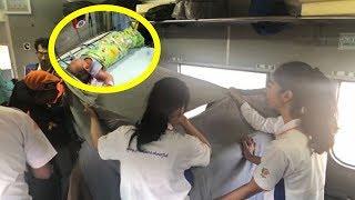 Video Detik-detik Ibu Melahirkan di KA Kertajaya, Sosok Penumpang dari Situbondo Jadi Penyelamat