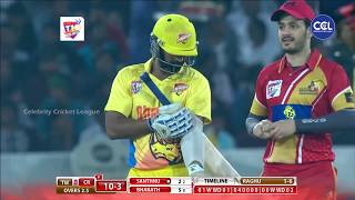 Excellent Throw gets a Crucial Wicket for Telugu Warriors against Chennai Rhinos