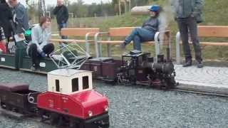 preview picture of video 'Mini railway in park_Parní i bateriové mašinky'